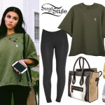 Madison Beer: Olive Green Sweatshirt