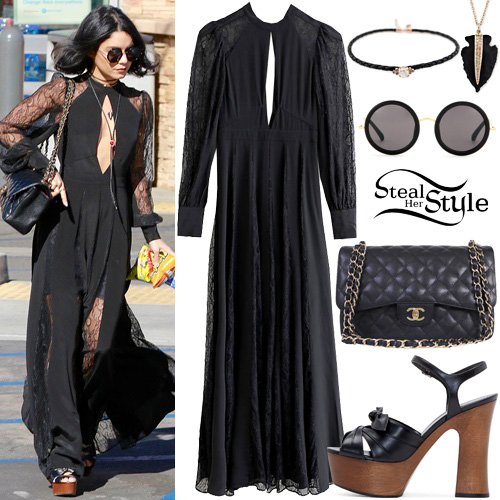 Vanessa hudgens black maxi dress