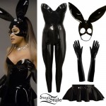 Ariana Grande: Latex Bunny Ears Outfit