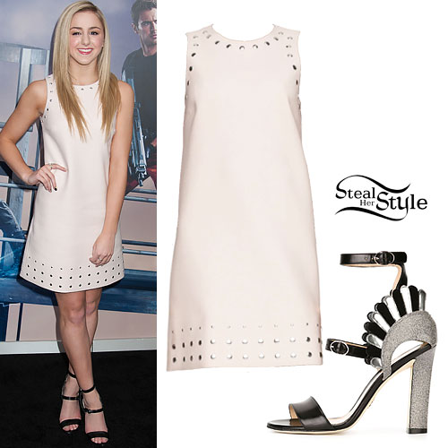 Chloe Lukasiak: Studded Shift Dress