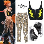 Hayley Williams: Lightning Crop Top & Pants