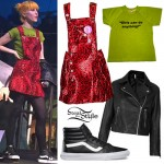 Hayley Williams: Red Leopard Overalls