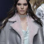 148871, Kendall Jenner walks the runway at the Versace show during Milan Fashion Week Fall/Winter 2016/17 in Milan. Milan, Italy -  Friday February 26, 2016.  USA ONLY Photograph: © Photoshot, PacificCoastNews. Los Angeles Office: +1 310.822.0419 sales@pacificcoastnews.com FEE MUST BE AGREED PRIOR TO USAGE
