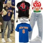 Miley Cyrus at the New York Knicks VS Cleveland Cavaliers basketball game held at Madison Square Garden. March 26th, 2016 - photo: AKM-GSI