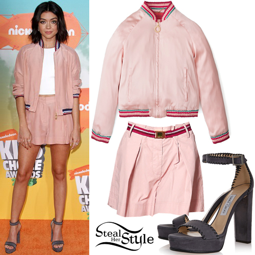 Sarah Hyland at the Kids' Choice Awards at The Forum. March 12th, 2016 - photo: FameFlynet