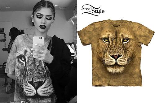 Zendaya: Lion Face T-Shirt