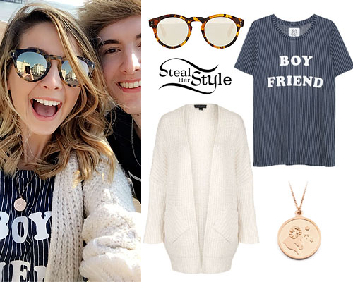 Zoella: 'Boy Friend' Striped Tee
