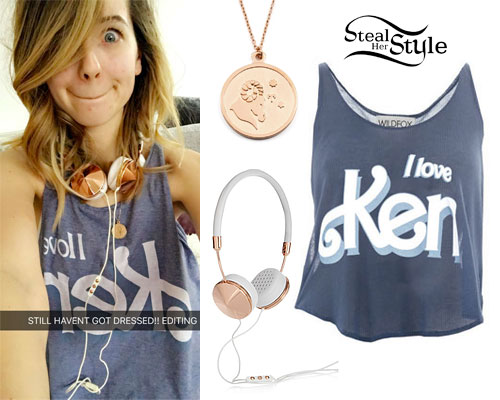 Zoella: 'I Love Ken' Tank Top
