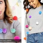 Zoella: Gray Pom Pom Sweatshirt