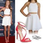 Ava Cota: White Halter & Skirt