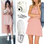 Eleanor Calder: Pink Polka Dot Outfit