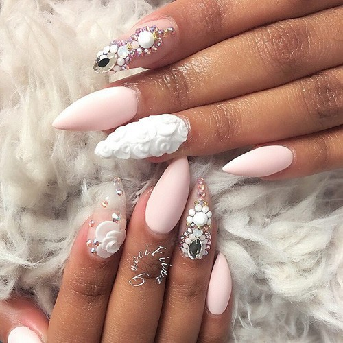 106 Celebrity Nail Art Photos with Stones | Page 4 of 11 | Steal Her ...