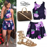 Liane V: Floral Two-Piece, Gladiator Sandals