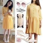 Marzia Bisognin: Yellow Shirtdress Outfit