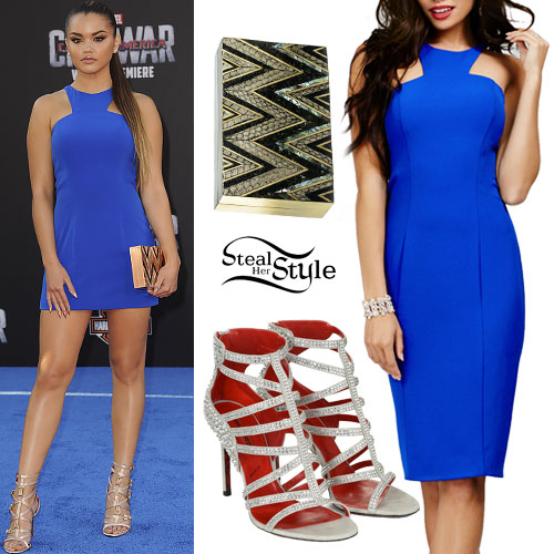 Paris Berelc: Blue Cutaway Mini Dress