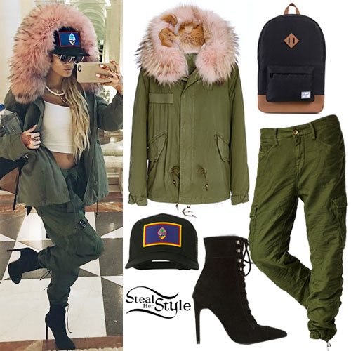 Pia Mia: Pink Fur Hooded Parka
