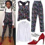 Skai Jackson: Seahorse Print Outfit