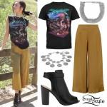 Amanda Steele: Metal Tee, Mustard Culottes