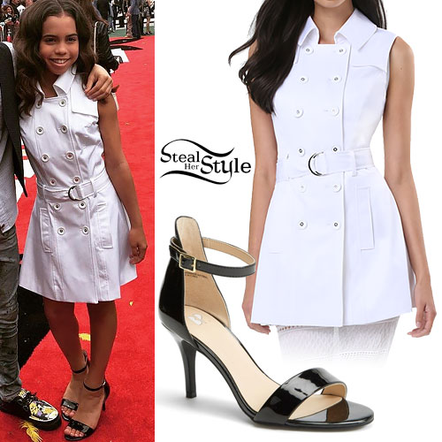 Asia Monet Ray: Trench Coat Dress