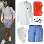 Dej Loaf: Heart Shirt, Golf Shorts
