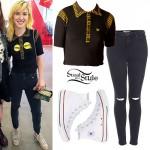 Hayley Williams: Yellow & Black Striped Polo
