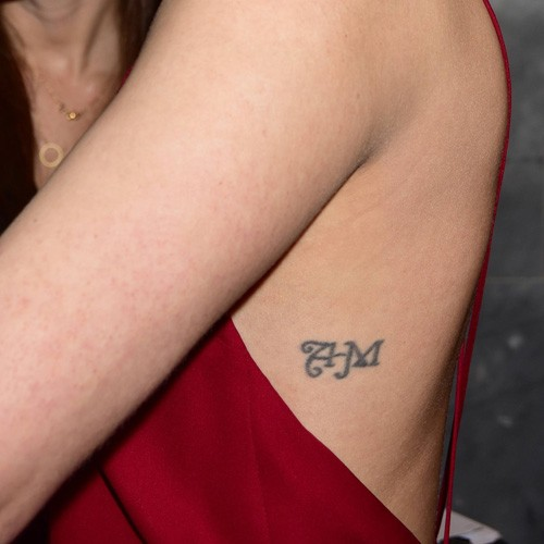 Jaimie Alexander Initial Writing Side Tattoo Steal Her Style