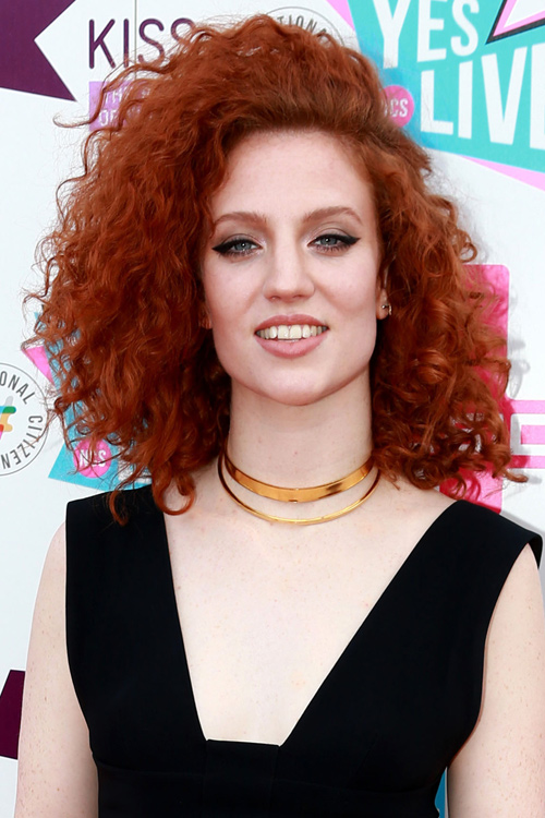 Jess Glynne Curly Auburn Hairstyle Steal Her Style