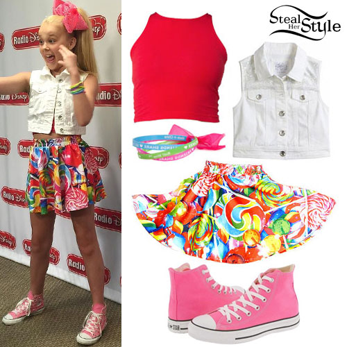 JoJo Siwa: Denim Vest, Lollipop Skirt