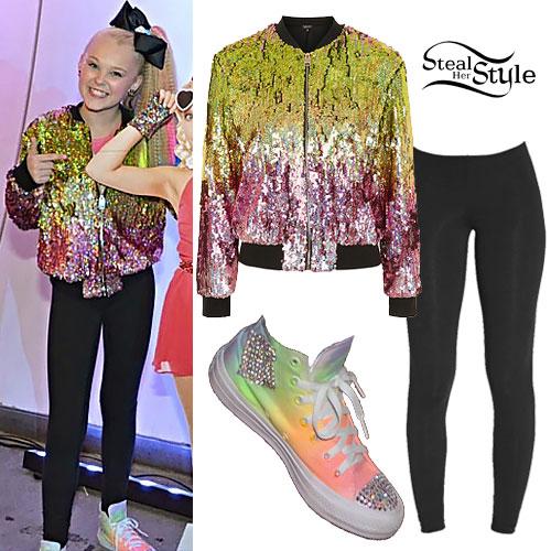 JoJo Siwa: Sequin Bomber, Rainbow Sneakers