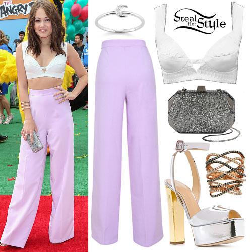 Kelli Berglund: Snake Bustier, Lavender Trousers