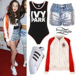 Kendall Vertes: Satin Bomber, Shiny Shorts