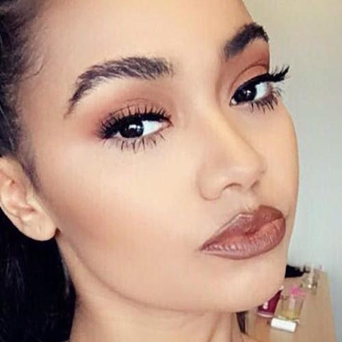 Leigh-Anne Pinnock Makeup: Black Eyeshadow, Nude Eyeshadow