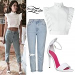 Martina Stoessel: Ruffle Top, Baggy Jeans