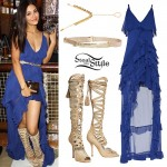 Victoria Justice: Ruffled High-Low Dress