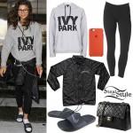 Zendaya: Ivy Park Hoodie, Windbreaker