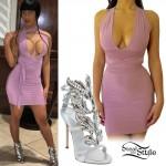 Cardi B: Strappy Dress, Crystal Shoes