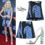 Chloe Lukasiak: Print Crop Top & Skirt