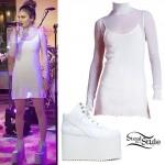 Daya: Mesh Dress, Platform Sneakers