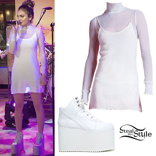 Daya: Mesh Dress, Platform Sneakers