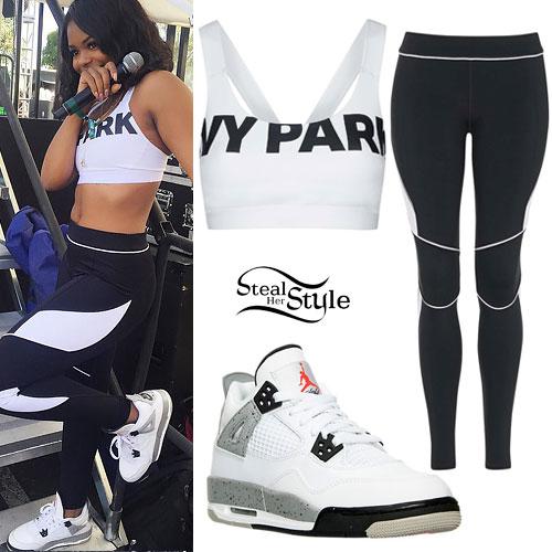 Dreezy: Ivy Park Sports Bra, Jordans