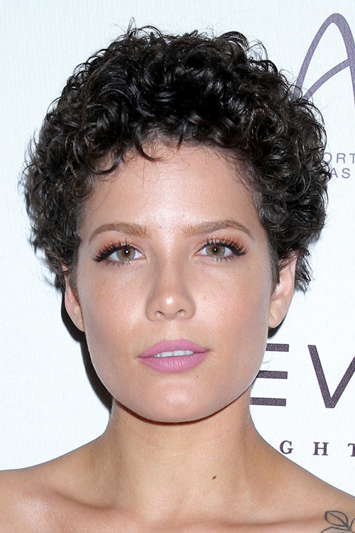 Halsey Curly Dark Brown Pin Curls Hairstyle Steal Her Style