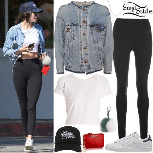 Kendall Jenner White Crop Top Denim Jacket Steal Her Style