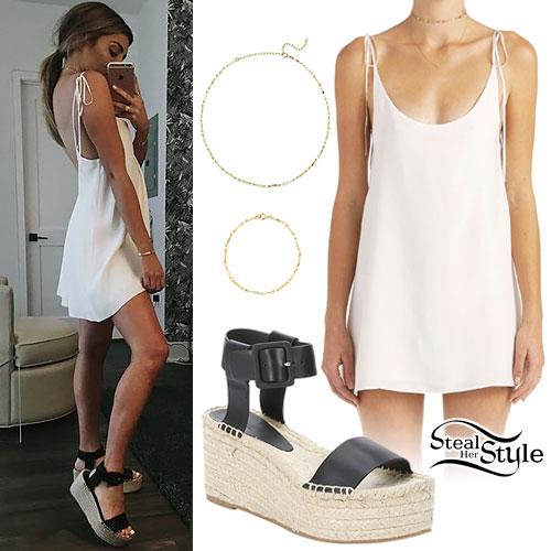 Lauren Elizabeth: Slip Dress, Platform Espadrilles