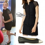 Peyton List: Shirtdress, Cap Toe Flats