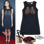 Rowan Blanchard: Lungs Dress, Bird Sandals
