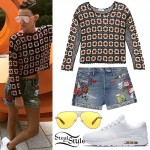 Ruby Rose: Crochet Sweater, Patchwork Shorts