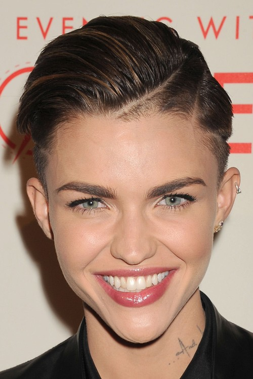 Ruby Rose Straight Medium Brown All Over Highlights