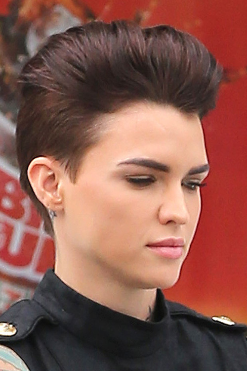 Ruby Rose Straight Auburn Mohawk Hairstyle Steal Her Style