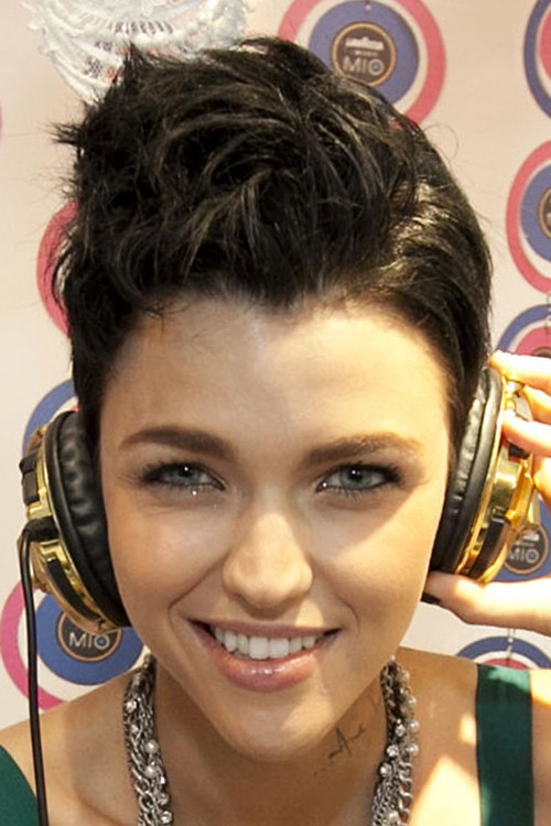Hairstyles Ruby Rose : Ruby Rose Straight Dark Brown Mohawk, Pixie Cut Hairstyle Steal Her ...
