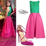Sofia Carson: Green & Pink Dress